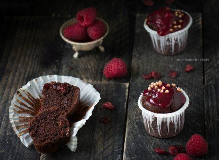 Mini muffin ai lamponi e mirtilli rossi