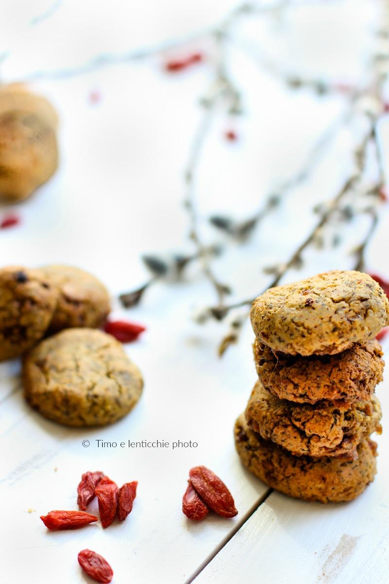 Biscotti di miglio senza glutine alle bacche di goji 3