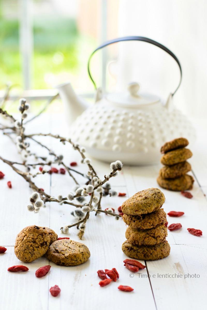 Biscotti di miglio senza glutine alle bacche di goji 1