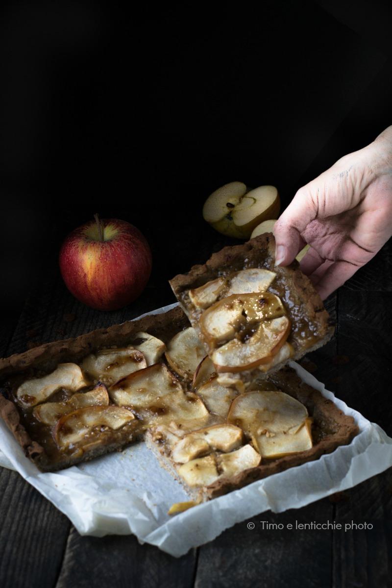 Crostata di mele senza glutine e senza zucchero 3