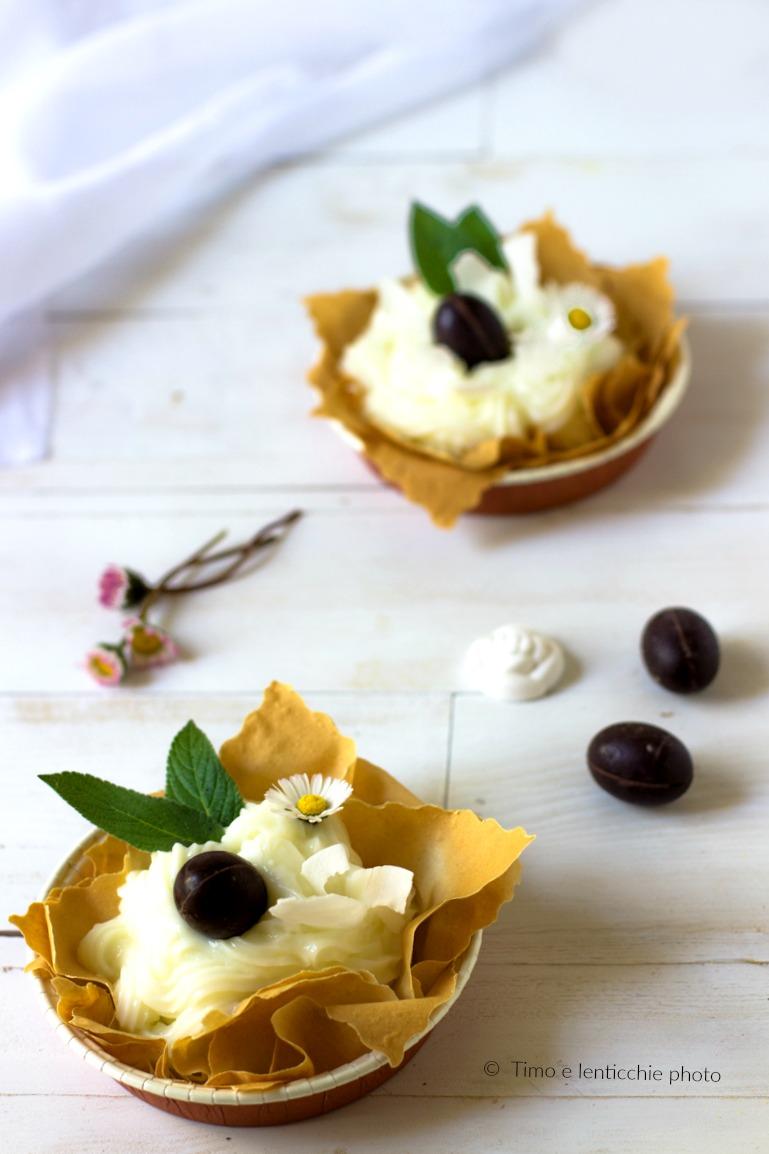 Cestini alla crema di limone vegan in pasta fillo 1