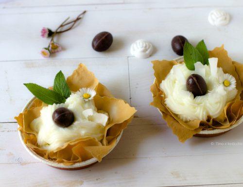 Cestini alla crema di limone vegan in pasta fillo