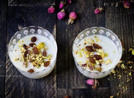 Muhallabia dolce dal medio oriente senza glutine