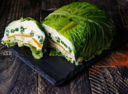 La terrina verde di una vegetariana