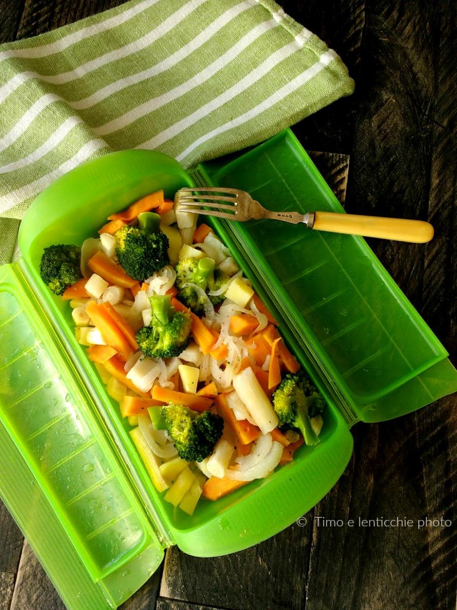 Verdure al vapore in microonde ricetta cottura rapida