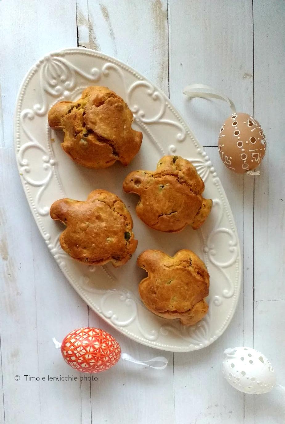 Muffin salati alle verdure piccole colombe pasquali 5