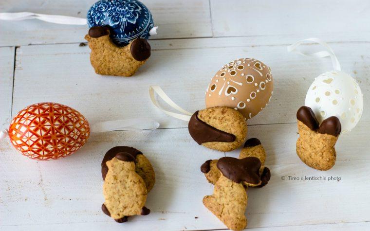 Biscotti semplici di Pasqua frolla senza burro e senza uova