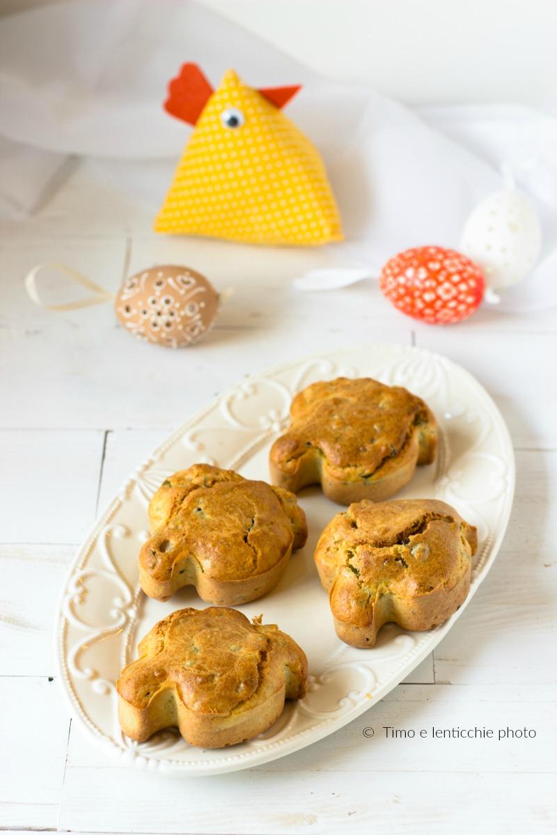 muffin salati alle verdure piccole colombe pasquali 1