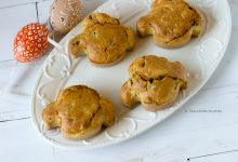 Muffin salati alle verdure piccole colombe pasquali