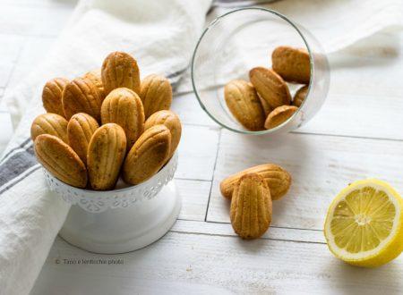 Mini madeleines al limone ricetta vegan veloce
