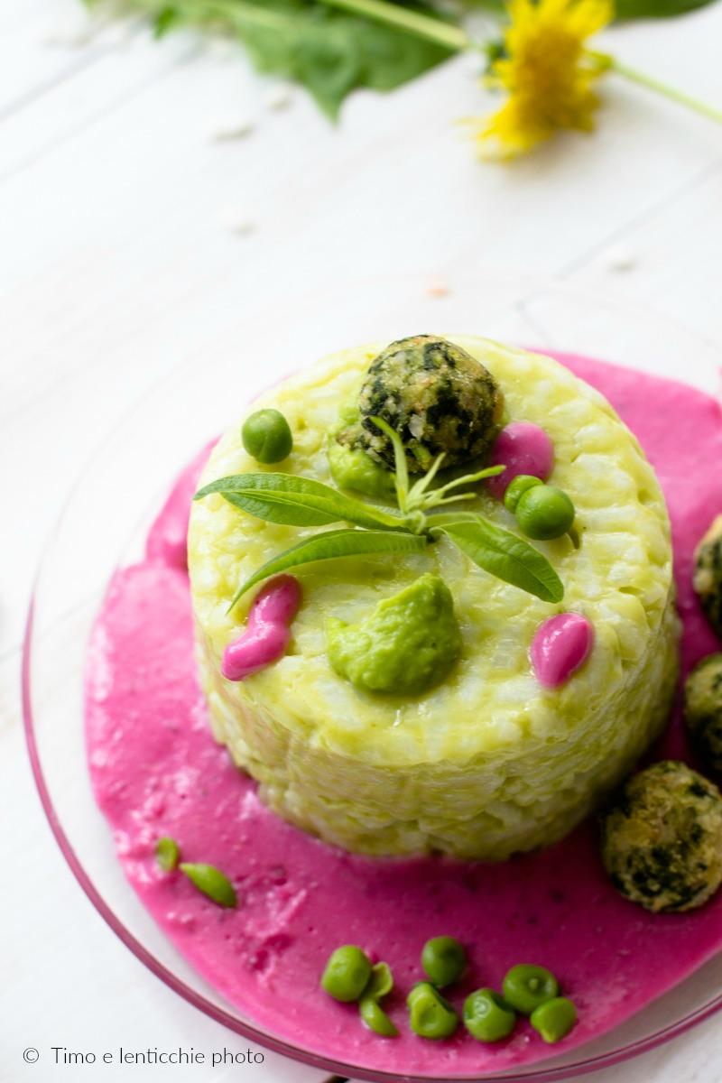 Mini sartù di riso in bianco con verdure ricetta vegetariana 2