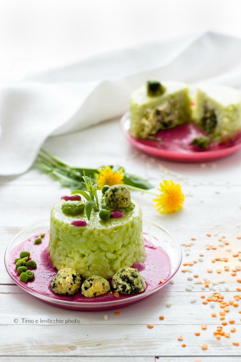 Mini sartù di riso in bianco con verdure ricetta vegetariana 4