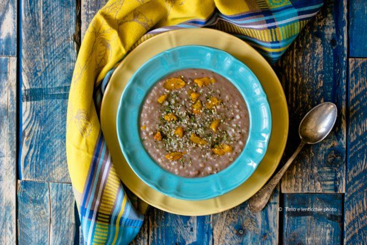 Zuppa di sorgo fagioli e zucca ricetta senza glutine