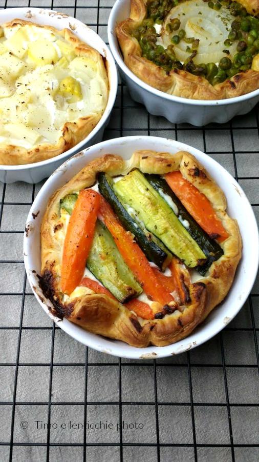 Tris di tartellette alle verdure ricetta semplice e veloce 4