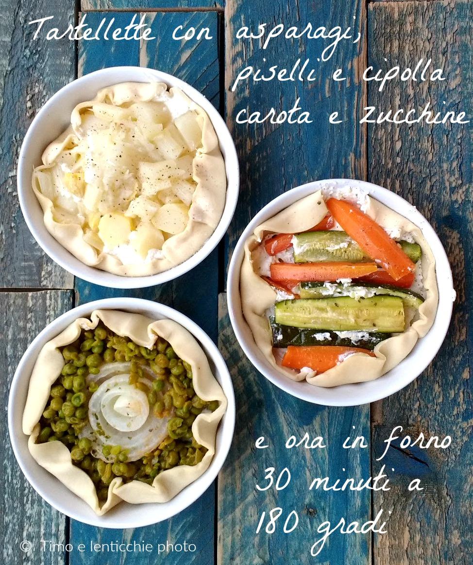Tris di tartellette alle verdure ricetta semplice e veloce 2