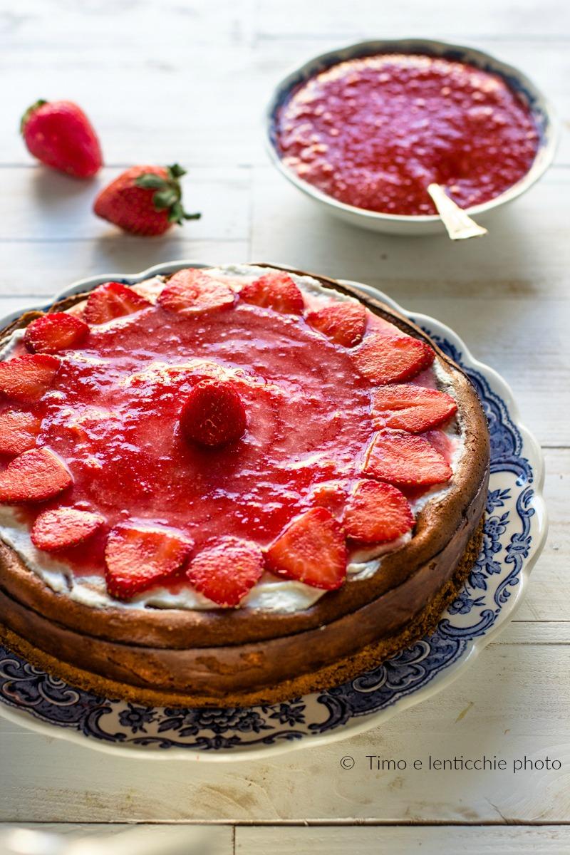 New York cheesecake alla fragola ricetta con e senza Bimby