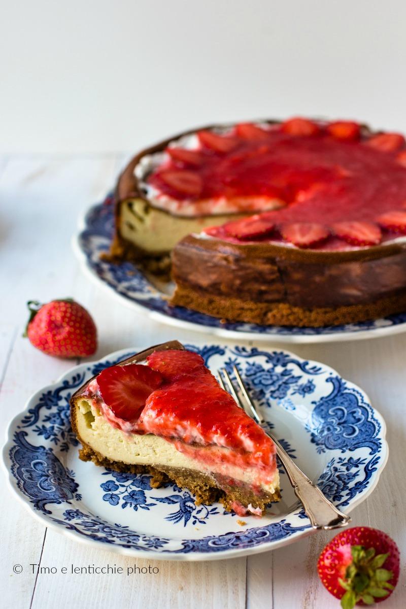 New York cheesecake alla fragola ricetta con e senza Bimby 4