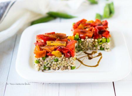 Grano saraceno peperoni e piselli ricetta semplice  e svelta