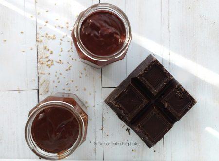 Crema cioccolato con tahin senza zucchero ricetta vegan