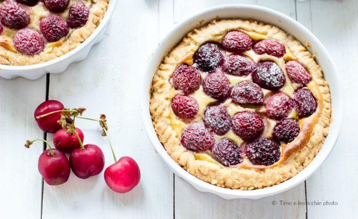 Crostata alle ciliegie di Castegnero e crema leggera
