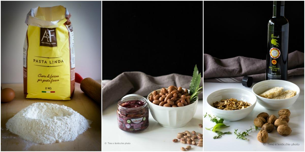 Tagliatelle con fagioli ricetta vicentina rivisitata con noci e radicchio 3