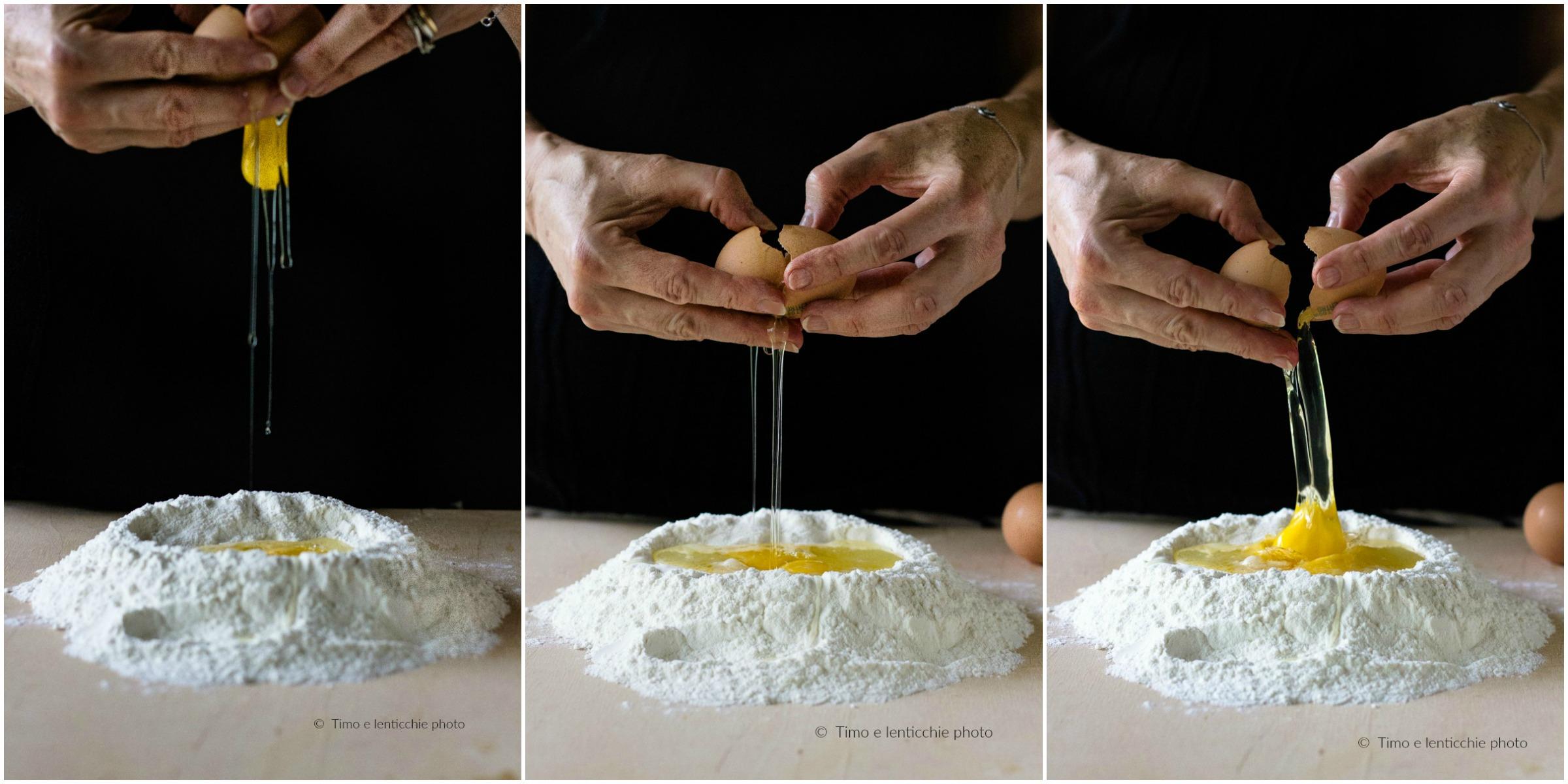 Tagliatelle con fagioli ricetta vicentina rivisitata con noci e radicchio 11
