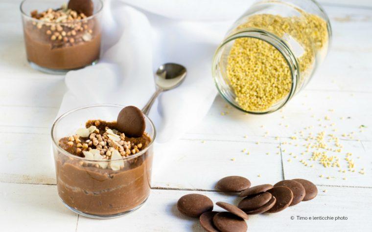 Budino di miglio al cioccolato
