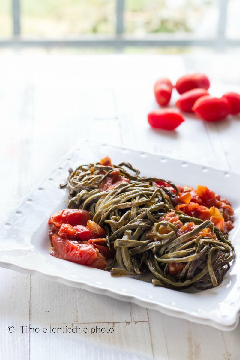 fagiolini spaghi di sant'Anna al pomodoro