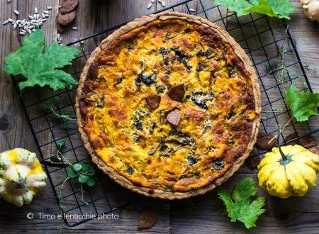 Brisé d'autunno cantarelli, zucca e formaggi del Piave