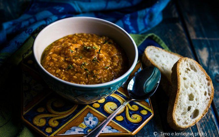 Zuppa di miglio e lenticchie spezzate alle verdure
