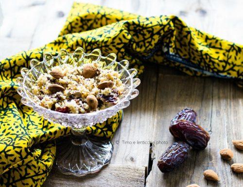 Cous cous dolce ai fichi e frutta secca