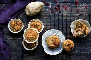 Muffin di farro integrale e patata dolce veneta - americana