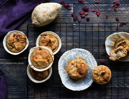 Muffin di farro integrale e patata dolce veneta – americana