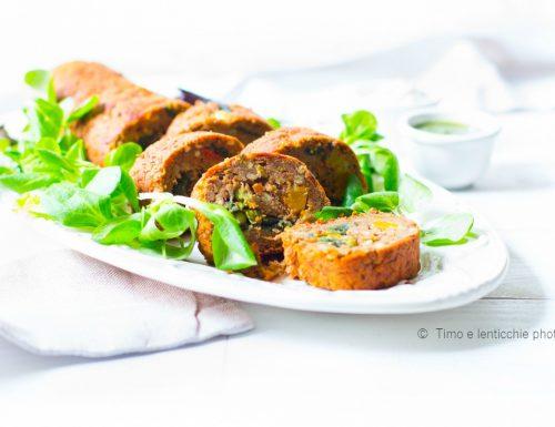 Rotolo di lenticchie ripieno alle verdure –  polpettone