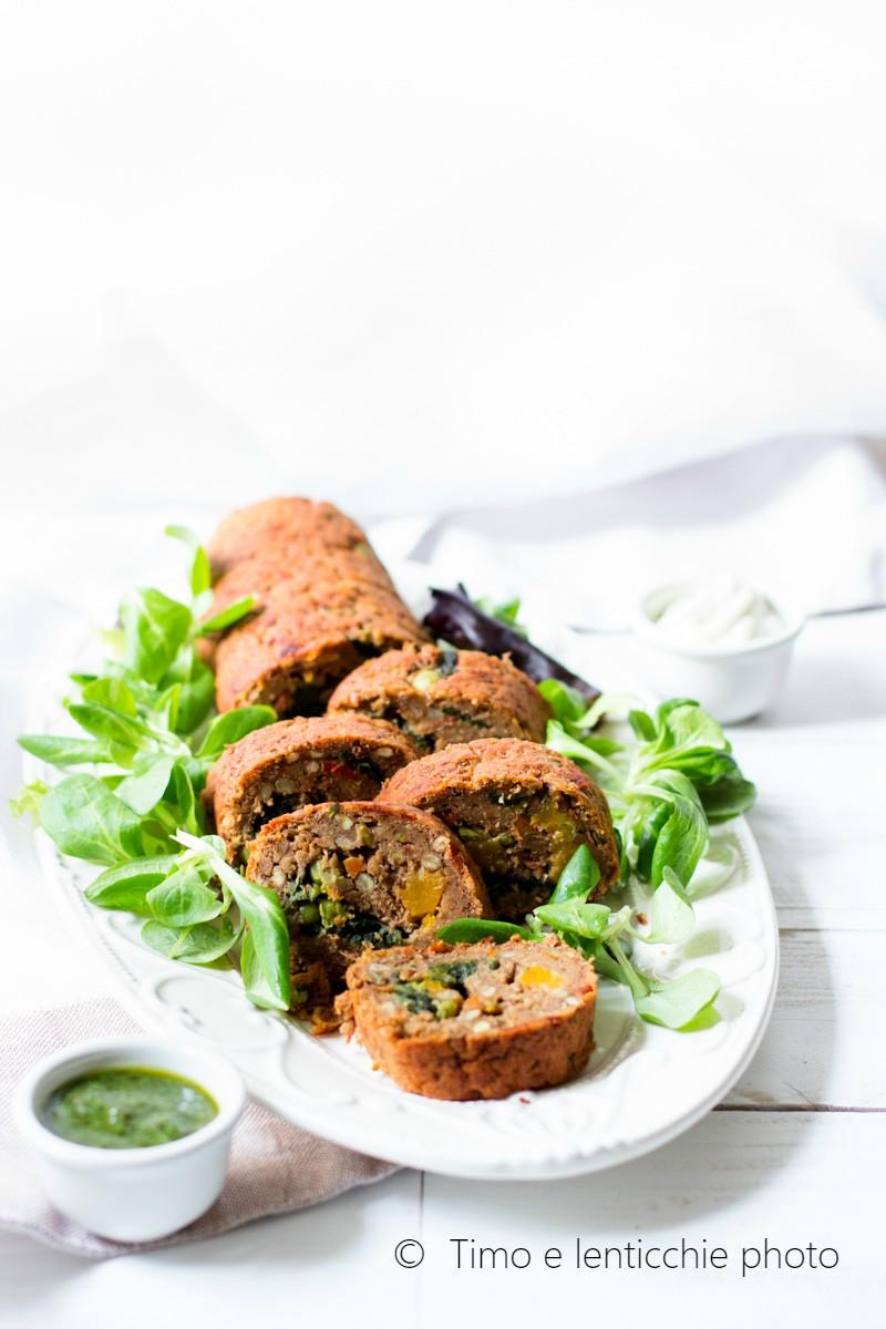 Rotolo di lenticchie ripieno alle verdure 4