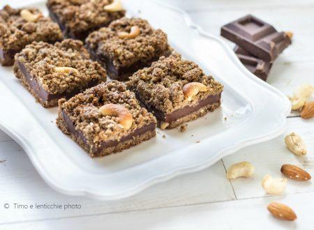 Sbrisolona brownies con anacardi veg