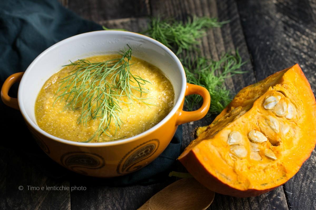 Vellutata di grano saraceno e zucca con curcuma