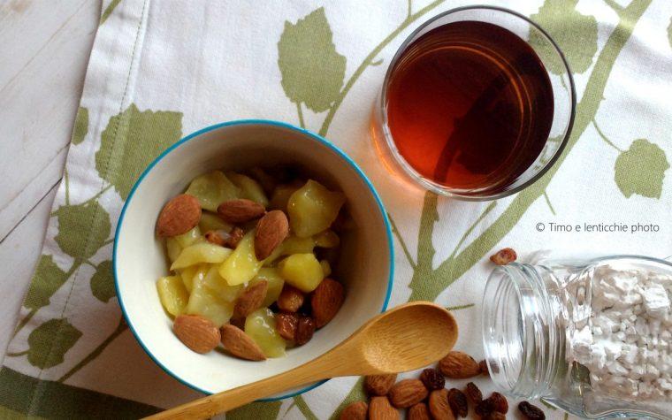 Colazione macrobiotica frutta al kuzu