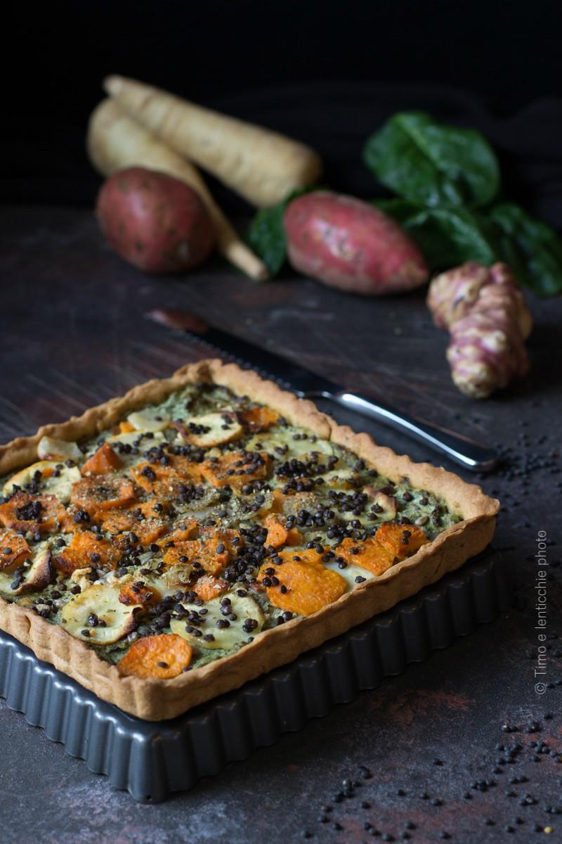 Torta salata ai tuberi d'autunno 1