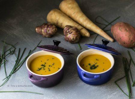 Vellutata batata pastinaca e topinambur – Rotfruktsoppa