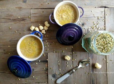 Zuppa con mung spezzati e miglio