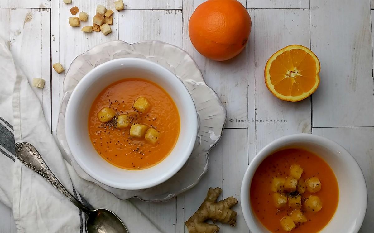 Vellutata carote topinambur e arancia 2