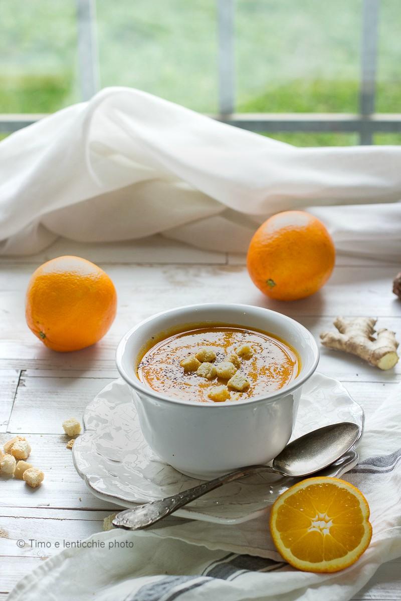 Vellutata carote topinambur e arancia