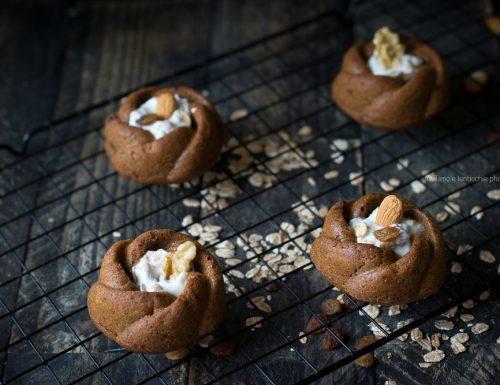 Muffin soffici al caffè e cioccolato con yogurt e muesli