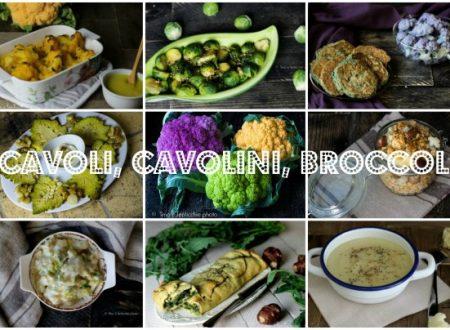 Raccolta ricette vegane con cavoli verze broccoli cavolini
