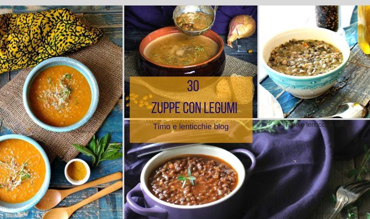 Zuppe minestre e vellutate con legumi ricette
