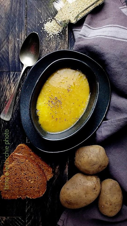 Zuppa quinoa patate e carote