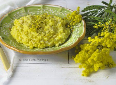 Risotto mimosa ricetta con riso integrale