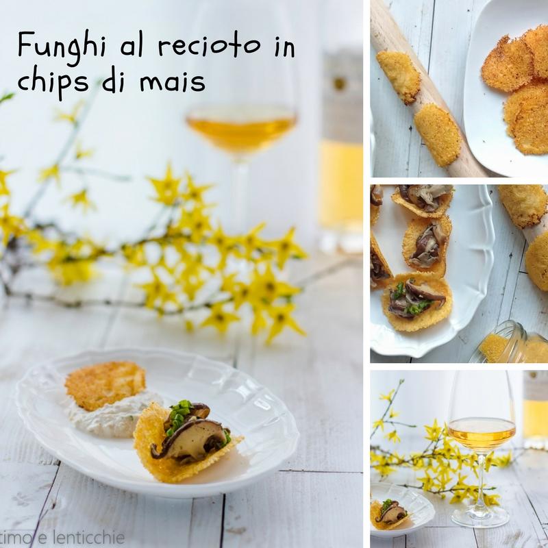 Funghi shiitake in chips di mais