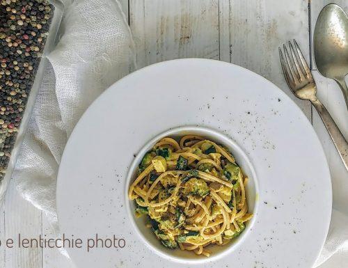 Carbonara vegana di zucchine (finta carbonara)